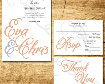 Script name wedding invitation printable