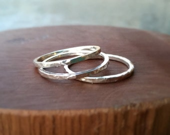Sterling Silver Stacking Rings, Sterling Silver Ring, Handmade Silver Stacking Rings, Sterling Silver Band, Hammered Silver Ring
