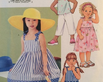 Butterick 3477, Size 6-7-8, Children's Dress, Top, Shorts and Pants Pattern, UNCUT