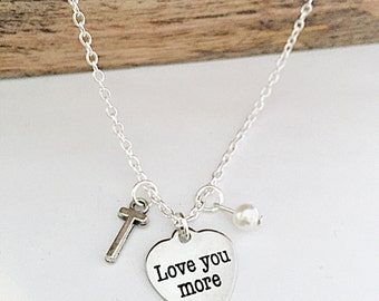 Personalized Love You More Necklace