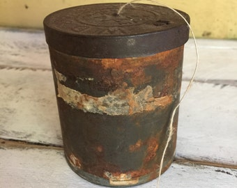 rusted vintage tobacco tin