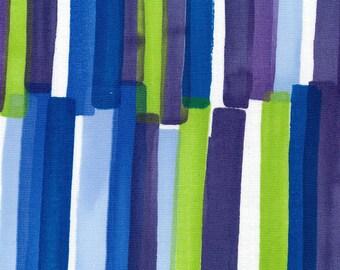 Nani IRO Fabric - Grace 2018 - Double Gauze - Japanese Kokka Fabric - Blue Green Stripe