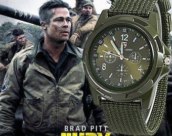 Military Army Bomber Pilot Canvas Strap Sports Men Boy Quartz Wrist Watch