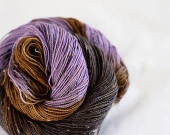 Lavender Earl Grey - House Wren - 85/15 superwash merino/ nylon tweed sock yarn