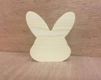 Solid pine rabbit shape free standing