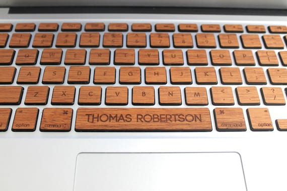 Macbook custom keyboard skin decal with custom spacebar
