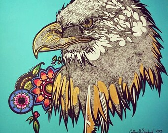 12x12 Eagle Print