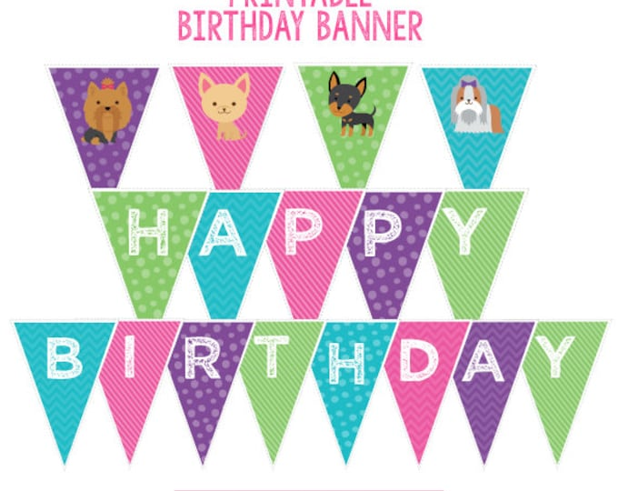 Pet Adoption Party, Puppy party decorations, Puppy birthday banner, Pet adoption banner, Digital files, Instant download