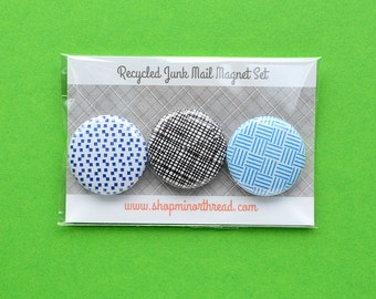 Recycled Junk Mail Magnet Set made from Recycled Paper by Minor Thread