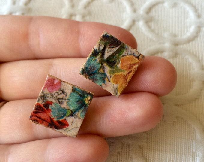 SALE! - Antique Springtime Floral Post Earrings