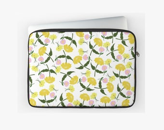 Laptop Sleeve: Yellow Zinnia Print