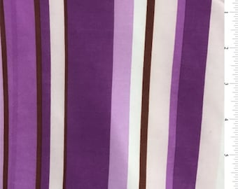 Orchid Purple/Pink Stripe Jersey Knit, Fabric By The Yard