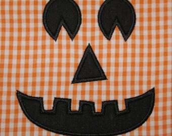 020 Jack-o-lantern Pumpkin Face Applique Design
