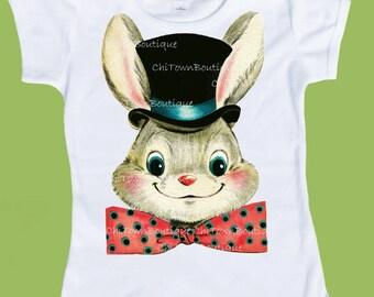 Rabbit Shirt, Top Hat Rabbit, Magic Rabbit, Easter Bunny,Boys' TShirts,Girls'TShirts, Toddler shirts, Boys Birthday, by ChiTownBoutique