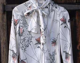 Lilies and Raindrops Novelty Print Seventies Shirt