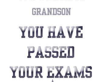 Passing Exams Grandson