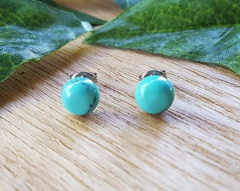 Turquoise Natural Gemstone Studs