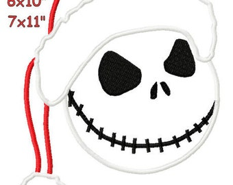 Christmas Santa Hat  Machine Applique Design Pattern embroidery 4x4 5x7 6x10 7x11 INSTANT DOWNLOAD