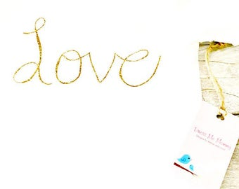 Children - Love - Girl - Gold Glitter - Toddler Onesie, or T-Shirt