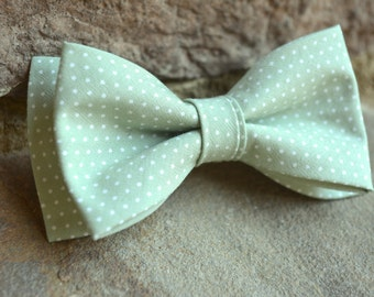 Sage green and ivory bow ties for boys,sage green bow tie for boys,dusty green bow tie