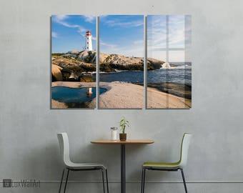 Lighthouse Wall Art Metal Print Decor Ready to Hang