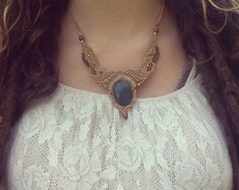 LOVE Is real Angel space lady magic Crysocoll tribal gipsy bohemian Necklace