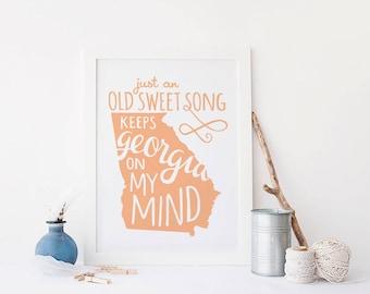 Georgia on My Mind Art Print
