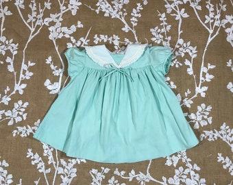18-24m Kate Greenaway Frock Vintage Mint Babys Girls Dress 12 18 24 months