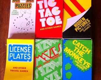 Set of 6 pocket puzzle books from the 1980s