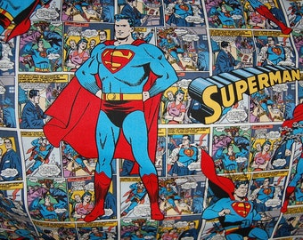 Superman Comic Book Style Pillowcase