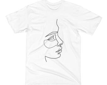 Yaniya: Face T-Shirt, Hand Drawn T-Shirt, Simple Tee, Oversized T-Shirt, White T-Shirt, Indie T-Shirt, Hipster T-Shirt