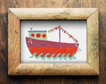 Boat/ Nautical/ Nursery Art/ Nursery Decor/ Digital Download