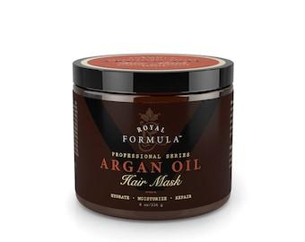 Argan Oil Hair Mask, 100% ORGANIC Argan Oil - Deep Conditioner Hair Treatment, Repair Dry, Damaged, Color Treated & Bleached Hair