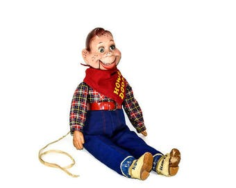Vintage Howdy Doody Doll - 1950's Howdy Doody Ideal Doll, Original Howdy Doody Ideal Doll, Howdy Doody Ventriloquist Doll