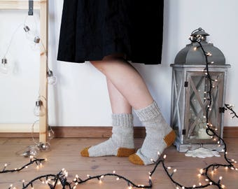 Minimal Rustic Home Socks, Colours Block Fantasy, Winter Essentials for Women