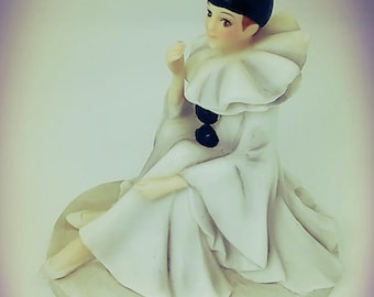 Pierrot the clown statuette