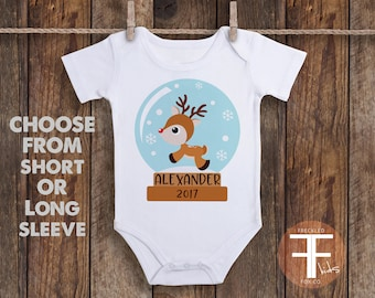First Christmas Onesie®, First Christmas Shirt, Baby's First Christmas, Winter Onesie, Baby Boy Outfit, Take Home Outfit, Coming Home Outfit