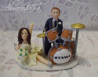 drums wedding cake topper