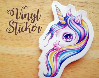 Candy Pop Licorne Die-cut Vinyl Sticker Decal - Snail Mail Swap
