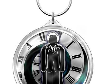 Doctor Who Key Fob/ Bag Charm/ Luggage tag (David Tennant - the 10th Doctor)