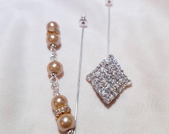 "2 pcs Hijab Pin Set ""Royal"""