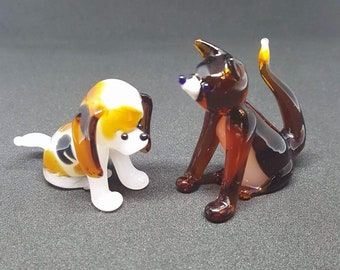 Fox and Hound Glass Figurine