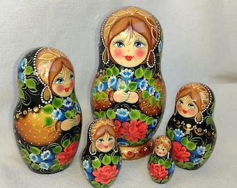 Matryoshka, Russian wooden doll, nesting doll, babushka, Russian souvenir