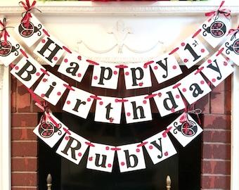 LadyBug Birthday Decorations / Ladybug Party Decor/  Ladybug banner / 1st 2nd 3rd birthday Decorations / Lady bug birthday