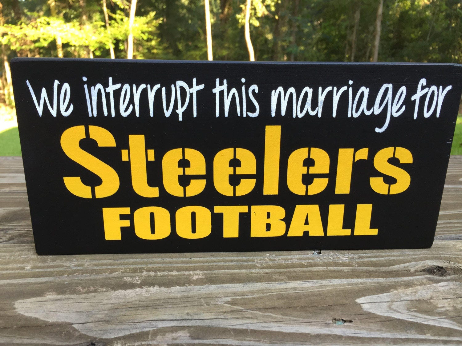 We Interrupt this marriage for Steelers football-Steelers fan