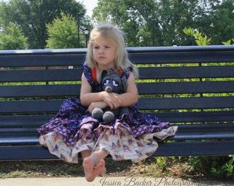 Little Girls Birthday Dress - Girls Ruffle Dress - Patriotic Dress - Red Dress - Blue Dress - White Dress - Girls Boutique Dress