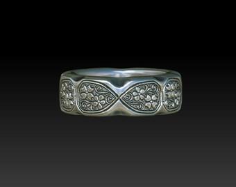 Floral wedding ring flower wedding ring silver ring botanical silver ring vine ring  ZB24