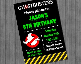 FLASH SALE 60% Off Ghostbusters Party Invitations