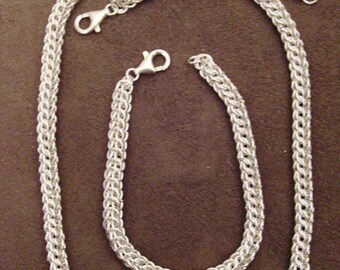 Persian Necklace and Bracelet in Sterling Silver