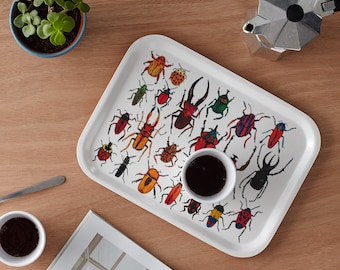 Scandinavian Birchwood Breakfast Tray: Bugs
